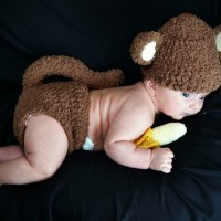 Newborn Monkey Outfit with Banana Photo Prop Crochet Pattern
