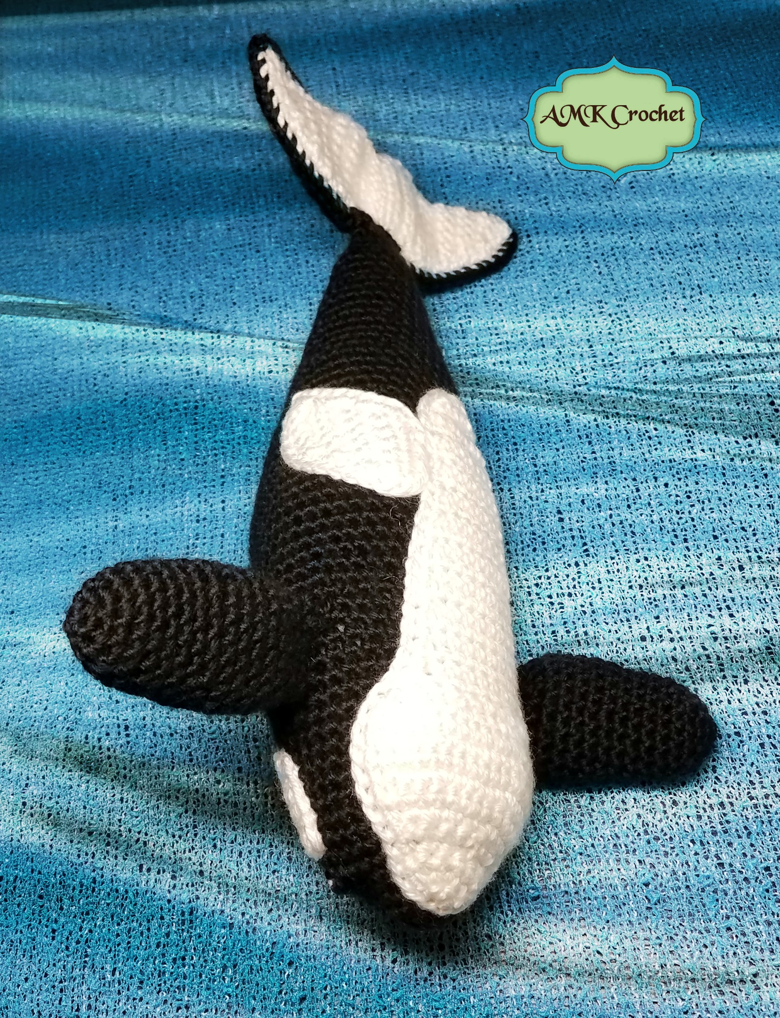 Crochet Orca (Killer Whale) Plush Toy Pattern | AMK Crochet
