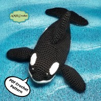 Crochet Orca (Killer Whale) Plush Toy Pattern by AMKCrochet.com
