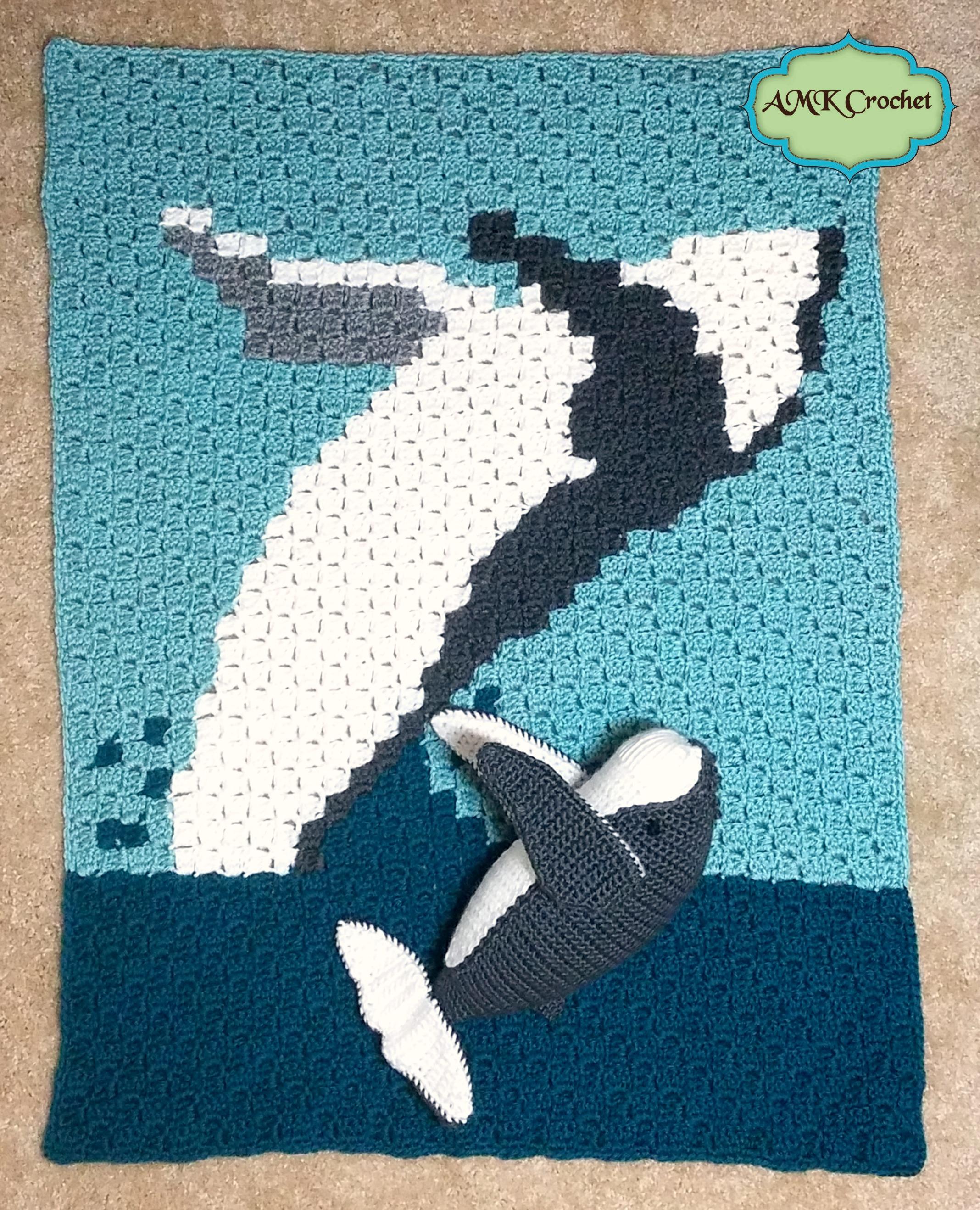 Baby Humpback Crochet Whale Free Pattern - One Dog Woof | 2636x2136