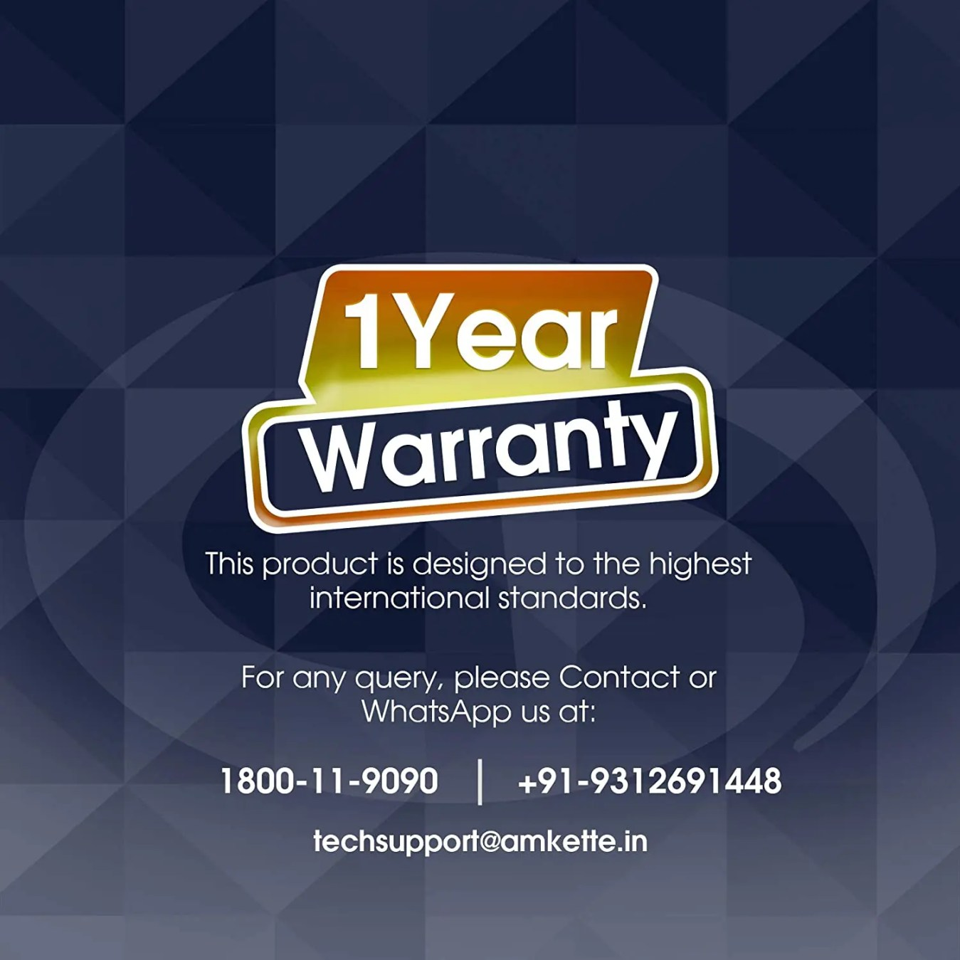 1year warranty card by amkette