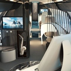 Chair That Converts To A Bed Swivel Table Swiss Company Yasava Unveils Private Jet Interior Concept | American Luxury