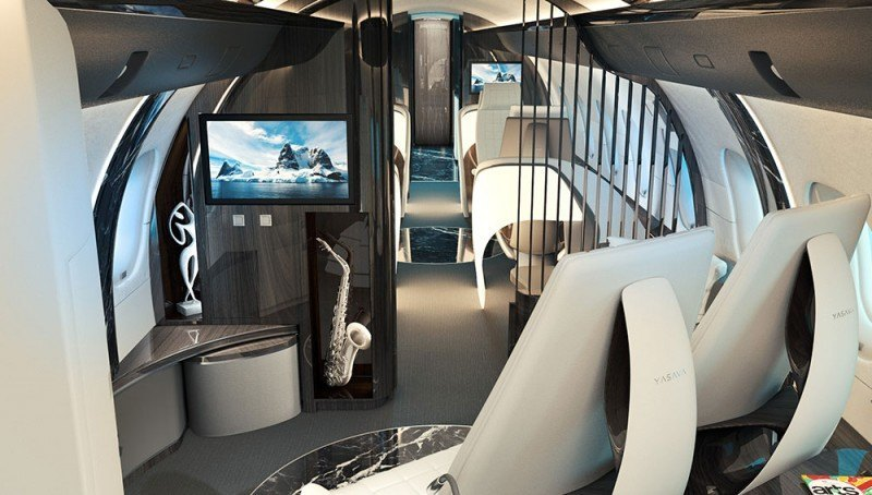 chair converts to bed bedroom hammock swiss company yasava unveils private jet interior concept | american luxury