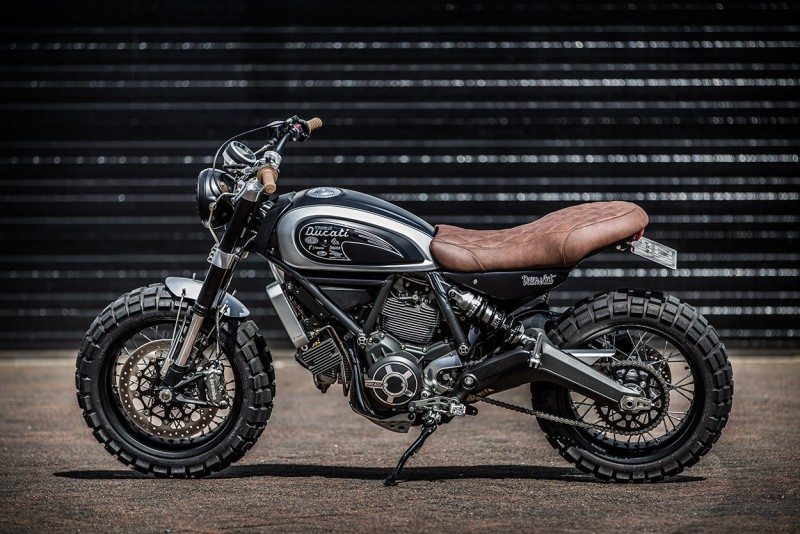 Down Amp Outs Custom Ducati Scrambler Proves Fat Tires Can
