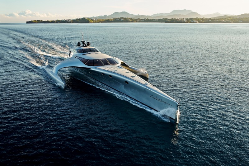Billionaire Anto Mardens Trimaran Superyacht Adastra Is Now Available For Charter American Luxury