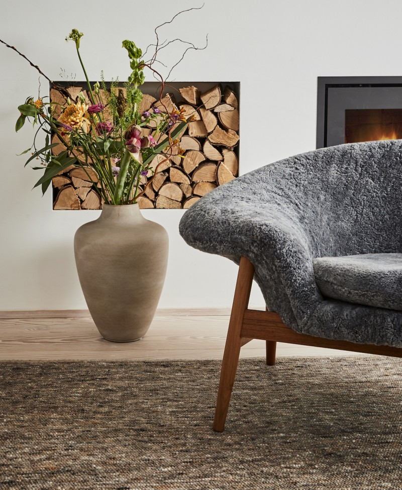 fried egg chair office no wheels warm nordic brings back hans olsen s in sheepskin if you enjoyed this article join our 140 000 affluent newsletter subscribers