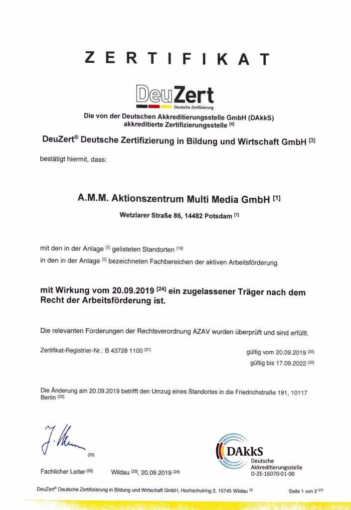 AMM.Qualität.Zertifikat.AZAV_.2019_2022