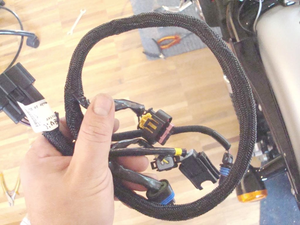 medium resolution of under the seat there is a big connector that connects the efi module with the injection body wire harness this allows you to unplug and remove the entire