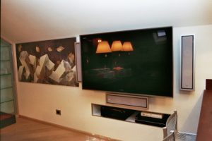 Home Theatre in mansarda