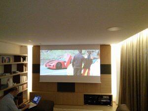 Sala Home Cinema con automazione domotica