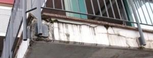 balcone condominio rovinato