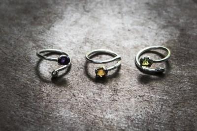 OJ8 - silver ring with choice of: Amethyst / Zircon / Peridot