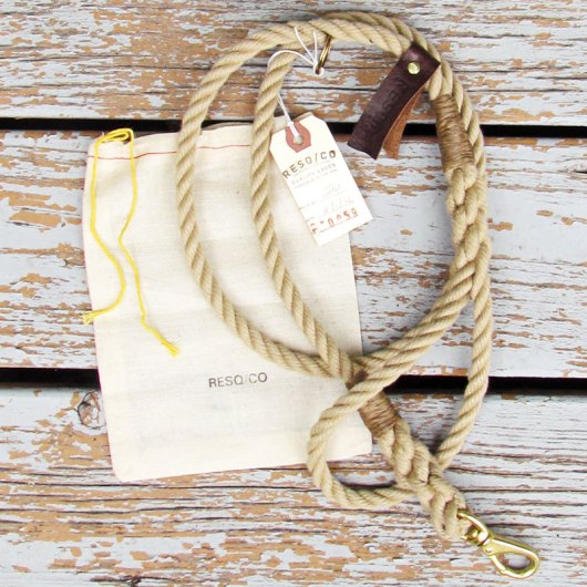 RESQCO Rope Dog Leashes via Ammo the Dachshund