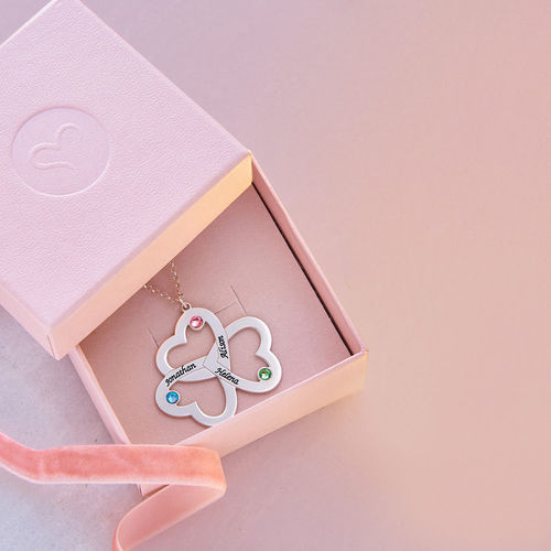 Personalized Triple Heart Necklace