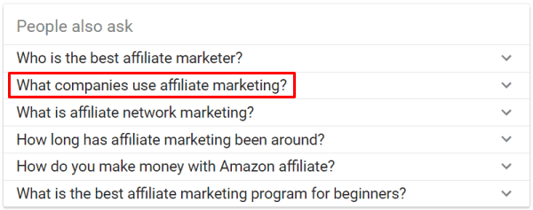 What companies use affiliate marketing?