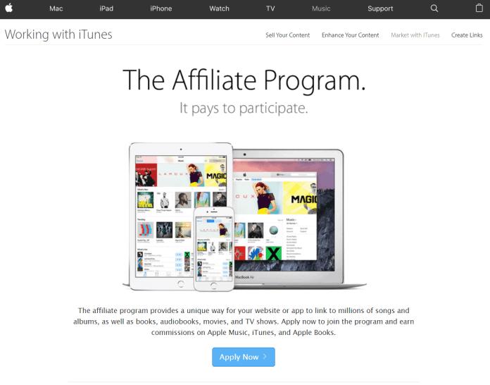 iTunes affiliate marketing program