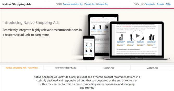 Amazon Creative Inventory - From Widgets to Native Shopping Ads