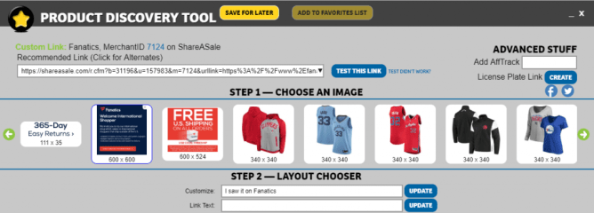 Creative inventory suppot: the ShareASale Product Discovery Tool
