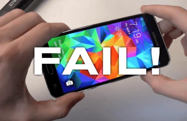 GALAXY S5 PROBLEMS BATTERY FAIL VIDEO HAMMER FUNNY JIPOSHY
