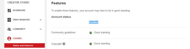 اجعل قناتك قد تم التحقق منها Verified
