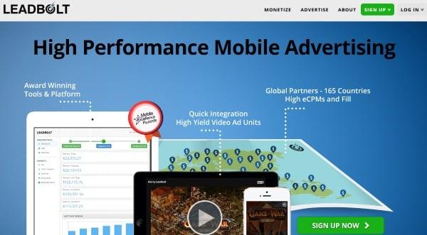 leadbolt أفضل البرامج الإعلانية للربح من تطبيقات و ألعاب الموبايل