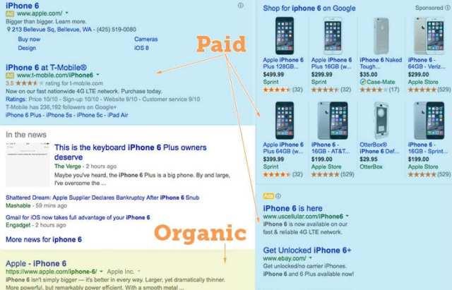 paid-vs-organic-listings