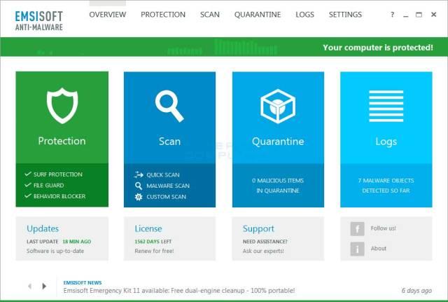 Emsisoft-Anti-Malware-1 كيفية حذف فيروس الفدية WannaCry من حواسيب ويندوز المصابة