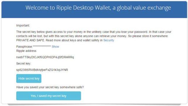 ripple-5 برنامج محفظة عملة الريبل XRP لحواسيب ويندوز/ الماك / لينكس