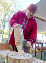 John Masciale of Palatine Illinois builds a mallet.