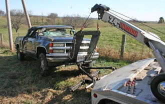 Kendra Peek/kendra.peek@amnews.com The adult passengers of the truck sustained non life-threatening injuries after their vehicle flipped on Ky. 52.