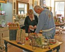 Kendra Peek/kendra.peek@amnews.com Ray Montgomery, of Danville, peruses Maple Tree Gallery with the help of employee Cindy Lacy.