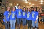 Kendra Peek/kendra.peek@amnews.com Centre College students support the Danville-Boyle County Humane Society in the Pints for Pets Pub Crawl on Saturday at Captain Franks Hot Dog Emporium. From left, Erica Bryan, Ashley Taylor, Maggie Hartledge, Jocelyn Kantor, Elizabeth Brandt, Stanley Willard and Lidia Galindo.