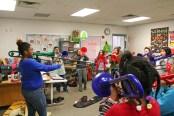 Kendra Peek/kendra.peek@amnews.com Students at Hogsett Elementary School learn to play the trombone.