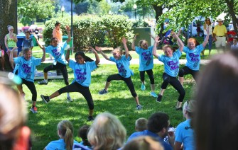 Members of the Danville Dance Company perform at the festival Saturday afternoon. (Photo by Ben Kleppinger)
