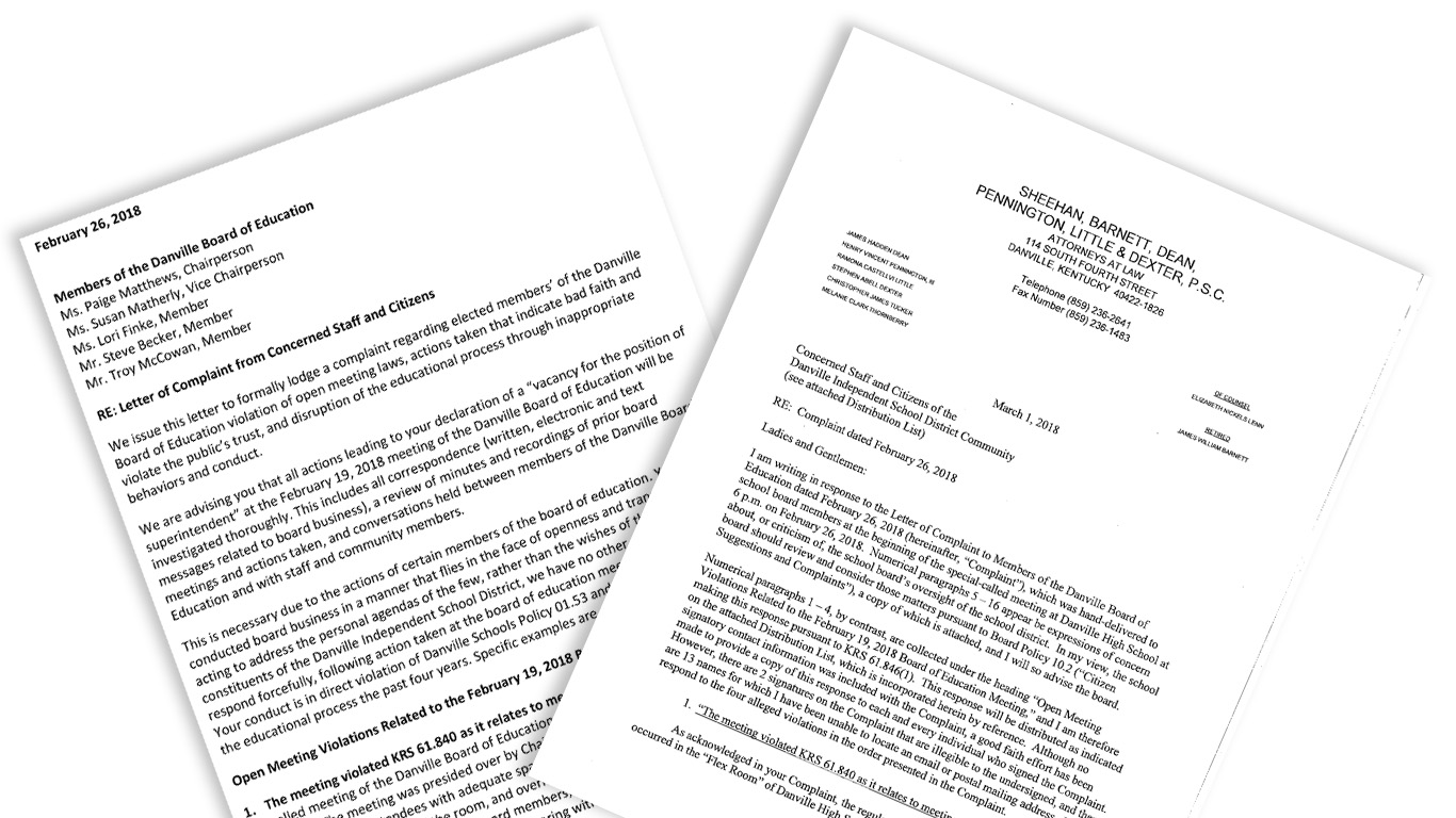 Full texts of complaint against Danville school board