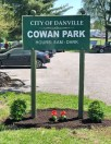 Photos submitted Clients of the Shepherd's House Intensive Outpatient Program cleaned up Cowan Park on May 1, visible with new flowers planted at the park's sign.