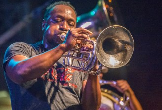 The Stooges Brass Band performs Saturday night on the main stage.