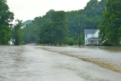 The Hanging Fork Creek closes off parts of Ky. 37.