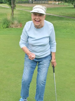 Pat Chipps, Morning Pointe of Danville resident, enjoys an afternoon at Old Bridge Golf Course.