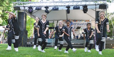 Students in Danville Dance Company perform a dance routine Saturday afternoon at the Soul of Second Street Festival.