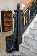 During the audio tour, the large marble staircase and cast iron railing are said to be original to the building, which was completed in 1911.