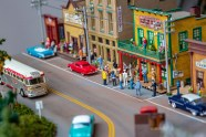 Ben Kleppinger/ben.kleppinger@amnews.com The diorama inside Hilliard Lyons features many figurines in quaint small-town main street scene.