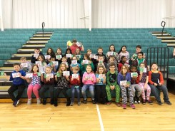 Third through fifth grades: front row: Nathan Griffin, Janelle Orberson, Cade Vega, Claire Combs, Alex Godbey, Isabella Wade, Savannah Edwards, Quentin Ethington, Caroline LeMonds, Trelin Edmondson, Bella Hillyard, and William McCurdy; second row: Lucas Akers, Sophia Fuller, John Mack, Parker Montgomery, Caroline Asher, Clara Cooley, Welles DeLair, Ryan Boyd, Bella Cineus, and Jerry Lin; third row: Landon Renner, Ana Spears, Kate Briese, Phoebe Smith, Cacee Karsner, Jonah Robbins, Nick Snyder, Gracie Wethington, Kimberly Antonio-Hernandez, Maddie Coleman, and Nolan Meade; back row: Charlie Benge.