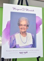 A portrait of Margaret D. Marshall, who died in 2003, served as a KSD houseparent from 1937-1945, and was a teacher from 1945-1976. (Photo by Robin Hart)