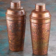 Stainless Steel Kitchen Racks Small Ceiling Ideas Cocktail Shakers Antique Copper ...
