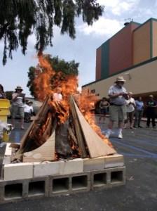 outdoor pit firing