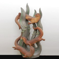 Betty Davenport Ford - Ceramic Otters