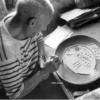 Picasso working in clay
