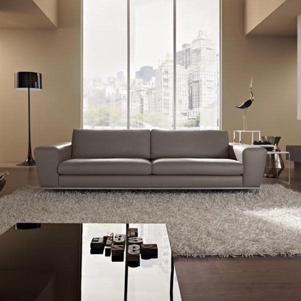Contemporary Italian Leather Sectional Sofa