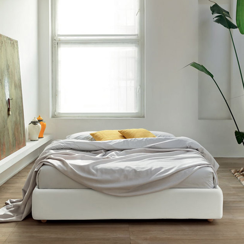 Fabric Bed Base without Headboard